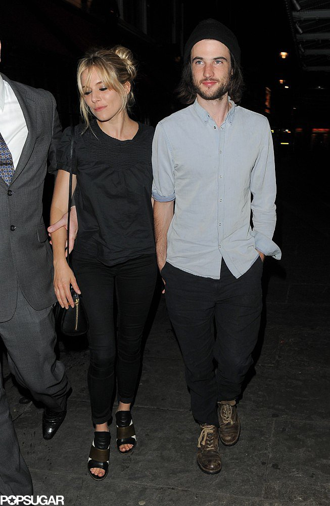 Sienna Miller and Tom Sturridge pounded the pavement.