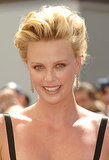 A misty-eyed Charlize looked stunning while receiving her star on Hollywood Boulevard in 2005. She went for a peachy metallic eye shadow, which showed off her gorgeous green eyes, and a voluminous, windswept updo.