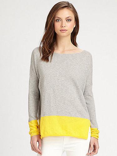 Vince Cotton Colorblock Sweater