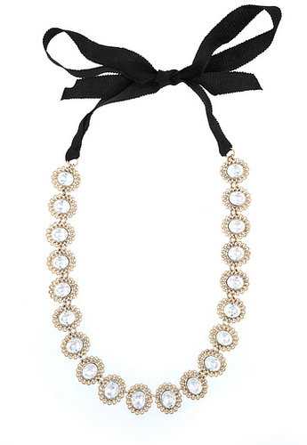 Lee Angel Tie Up in Crystal Necklace