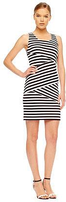 MICHAEL Michael Kors Striped Paneled Dress