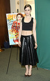 Lily Collins celebrated her Seventeen September cover in a midriff-baring ensemble.