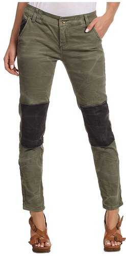 Free People - Patched Twill Herringbone Pant (Military) - Apparel