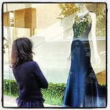 Carolina Herrera's window is truly something to reflect upon. Source: Instagram user houseofherrera