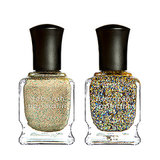 Ease into Fall with the golden shades from Deborah Lippmann's new Jewel Heist Collection. Fake It Til You Make It ($17) is a shimmering gold, while Glitter and Be Gay ($19) is a chunky holographic glitter polish. The two can be worn on their own or layered for an even more textured effect.