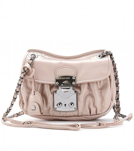 Miu Miu PATENT LEATHER MATELASSÉ SHOULDER BAG