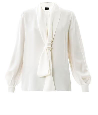 Fendi Neck tie silk blouse