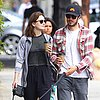 Adam Brody and Leighton Meester Walking Their Dogs in LA