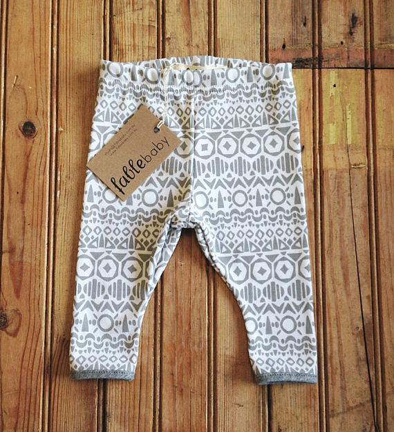 Organic Cotton Printed Leggings ($46)