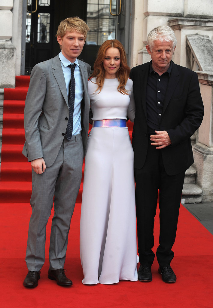 Rachel McAdams hit the red carpet with Domhnall Gleeson and director Richard Curtis.