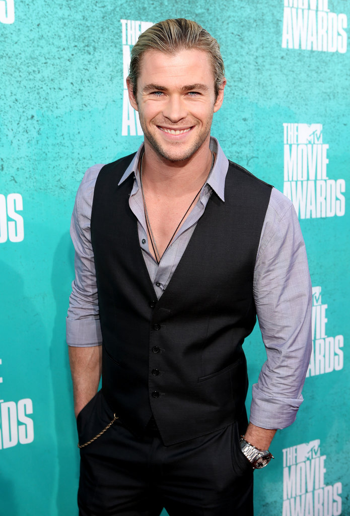 Chris flashed a dazzling smile at the MTV Movie Awards in June 2012.