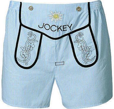 Herren Jockey Wies'n Boxer Short hellblau Short