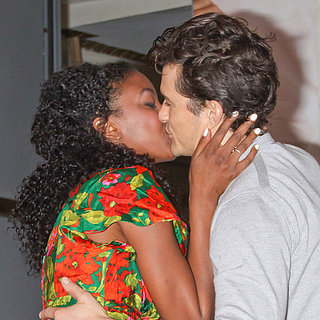 Orlando Bloom Kissing Condola Rashad | Photos