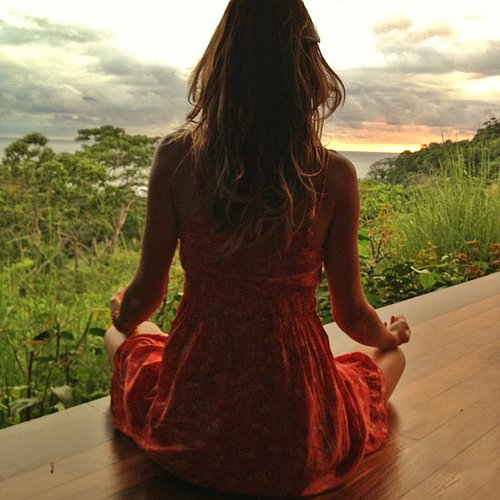 Gisele Bündchen started the morning with meditation. Source: Instagram user giseleofficial