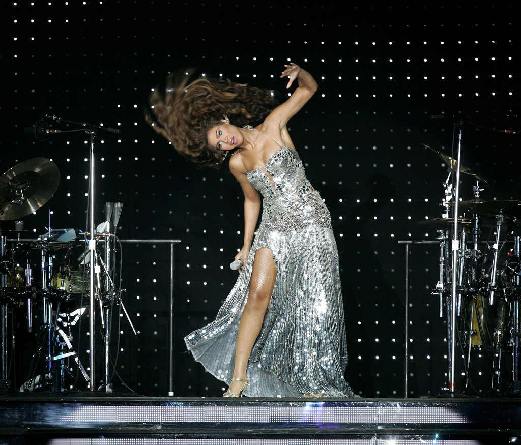 Hair flipping is obviously a full-body workout for Queen B. Her neck likely requires extra attention after a move like this one, which she pulled off at an Amsterdam show in 2010.