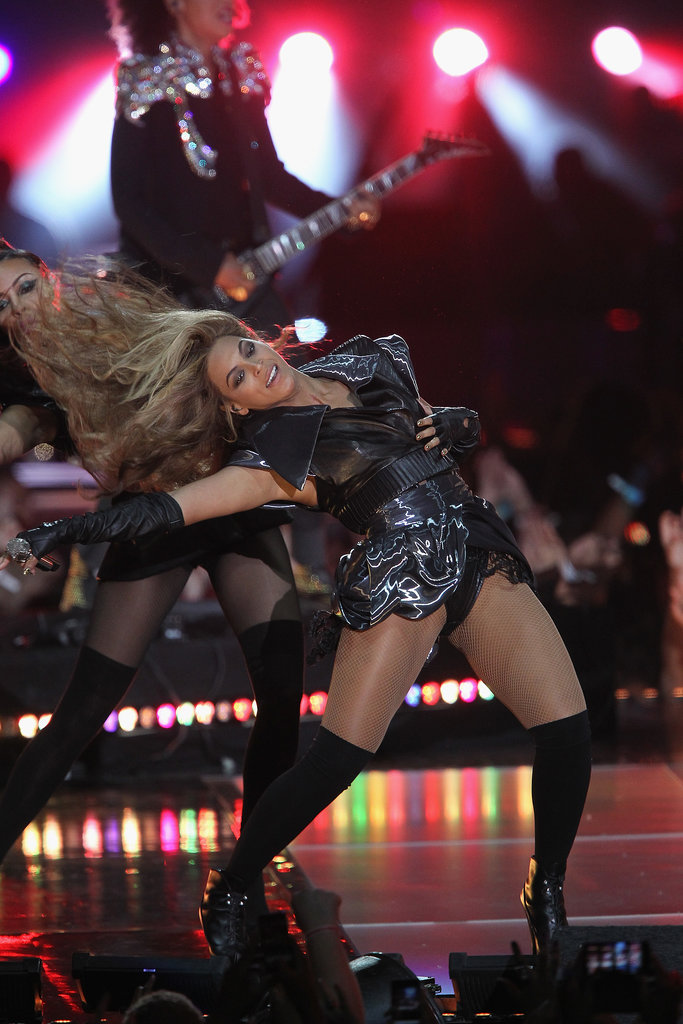 Beyoncé killed it during her Super Bowl XLVII halftime show. Of course, that included multiple hair-whipping moments like this one.