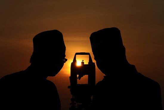 Muslims in Gresik, Indonesia, studied the moon, preparing for the end of Ramadan.