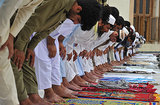Muslims gathered for a traditional prayer in Jalalabad, Afghanistan.