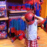 Harper Smith looked ready to spin a web while trying on costumes in the Disney Store. Source: Instagram user tathiessen