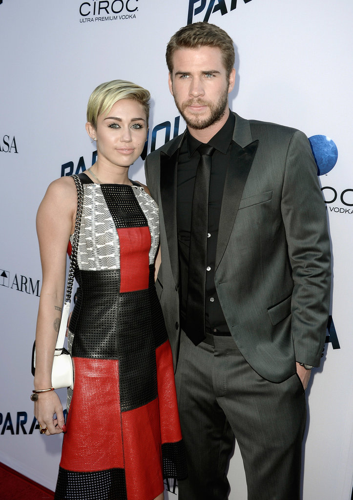 Miley Cyrus and Liam Hemsworth hit the red carpet together (for the first time since June 2012!) at the premiere of his new film Paranoia in LA on August 8.