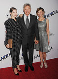 Harrison Ford brought his daughter, Georgia Ford, and Calista Flockhart with him.