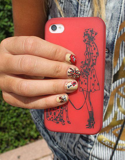 Our team was on the ground at Lollapalooza shooting festival style, and this rock-themed nail art was the top favorite.