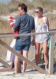 Kate Moss and Jamie Hince spent an August day at the beach in Formentera.