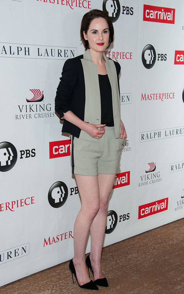 Michelle Dockery was the picture of polish in a chic Elie Saab shorts suit.