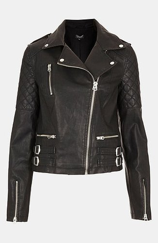 Topshop 'Wylde' Faux Leather Biker Jacket 12