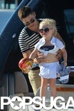 David Burtka held onto little Harper on a boat in Saint-Tropez.