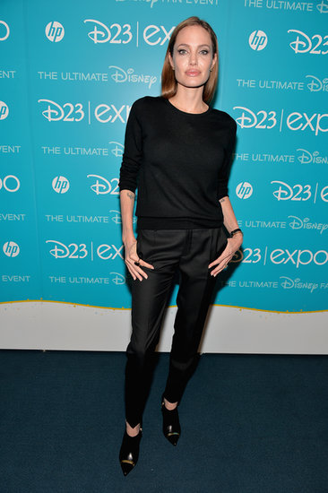 Angelina Jolie, who stars in Disney's Maleficent, attended the D23 Expo in LA on Saturday.