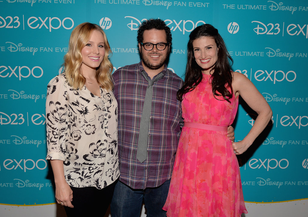 Kristen Bell posed with Josh Gad and Idina Menzel at the 2013 Disney D23 Expo.