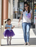 Jennifer Garner picked up her daughter Seraphina from ballet class.
