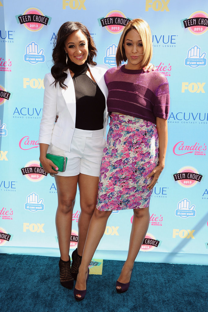 Tia and Tamera Mowry attended the 2013 Teen Choice Awards.