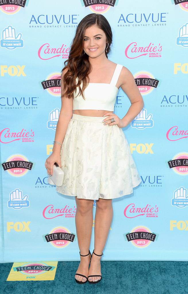 Lucy Hale attended the 2013 Teen Choice Awards.