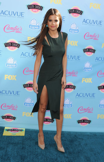 Selena Gomez arrived at the 2013 Teen Choice Awards.