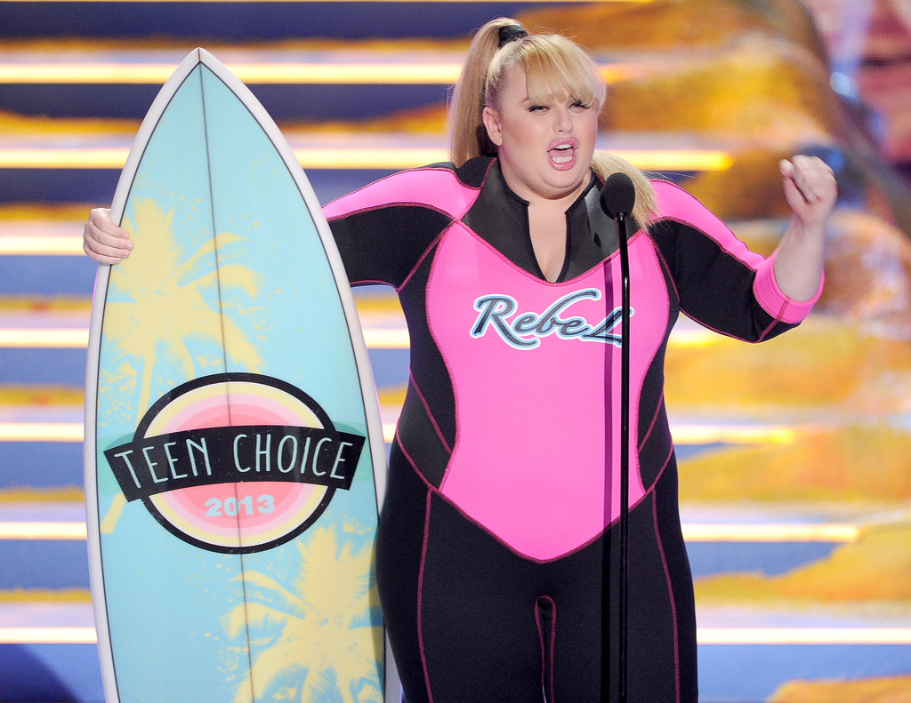 Rebel Wilson accepted the award for choice movie actress for Pitch Perfect at the Teen Choice Awards.