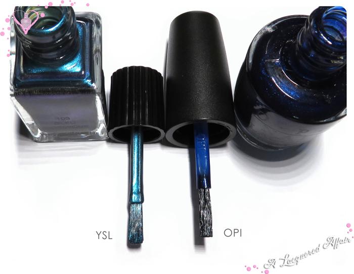 YSL vs OPI Brush