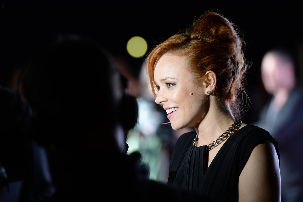 Rachel McAdams was all smiles at the Munich screening of About Time.
