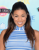 Neutral makeup and a half updo were Jordin Sparks's look on the Teen Choice Awards red carpet. Gilded eye shadow and strategic highlighting made her makeup stand out.