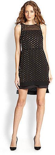 Diane von Furstenberg Abrielle Embellished Silk Hi-Lo Dress