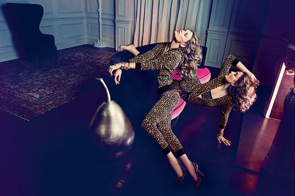 Andreea Diaconu and Edita Vilkevičiūtė photographed by Inez van Lamsweerde and Vinoodh Matadin. Photo courtesy of Juicy Couture