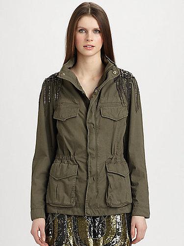 Haute Hippie Embellished Anorak Jacket