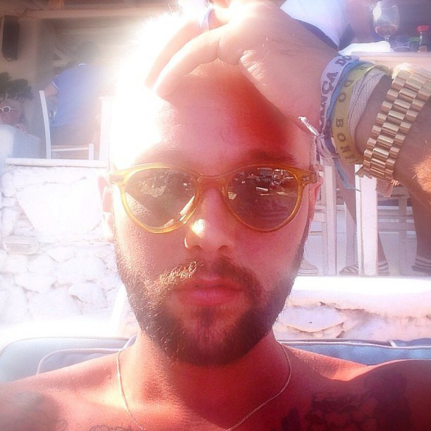 Chris Benz basked in the sunshine during a vacation in Greece. Source: Instagram user cmbenz
