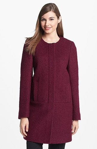DKNY Collarless Boucle Coat 6