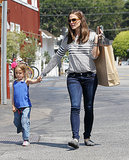 Jennifer Garner ran errands with Seraphina.