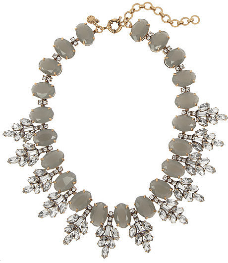 J.Crew Cubic zirconia and crystal necklace