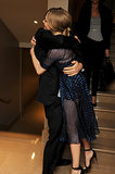 Peter Sarsgaard gave Amanda Seyfried a big hug at the London screening of Lovelace.