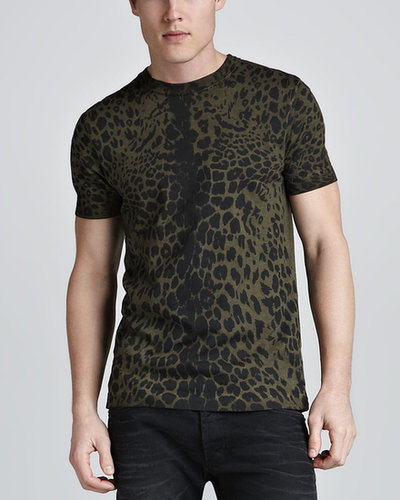 Pierre Balmain Leopard-Print T-Shirt