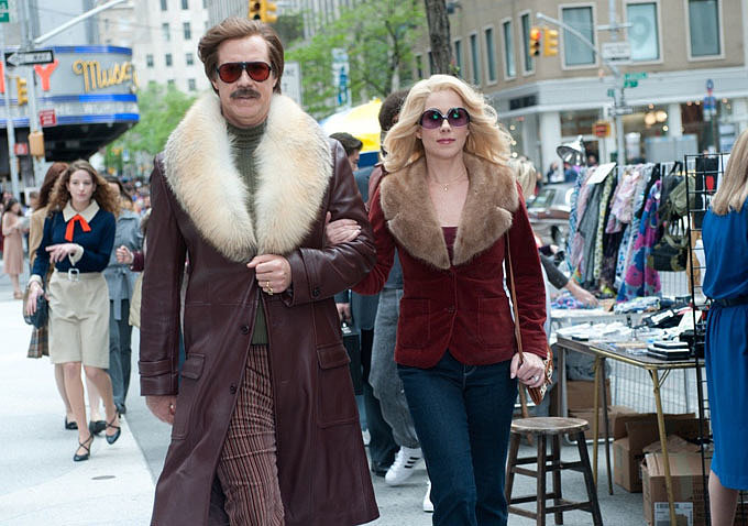 Burgundy and his love, Veronica Corningstone (Christina Applegate), make quite the '80s couple.